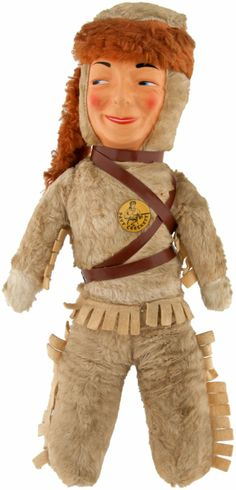DAVY CROCKETT DOLL WITH BUTTON.