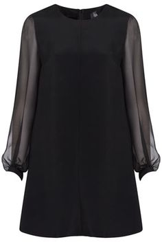 Sheer Sleeve Shift Dress By Boutique - pretty please Santa??!