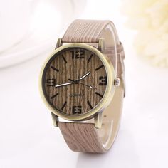 Hot Sale Vintage Wood Grain Watches Fashion Women Quartz Watch Wristwatches Gift Good-looking AP 2 - D Like it? Get it here