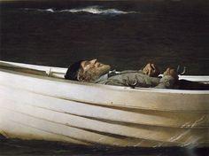 """""""Adrift"""" 1982.  Andrew Wyeth, American, (born 1917, died 2009)"""