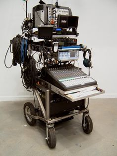 Sound recording trolley.