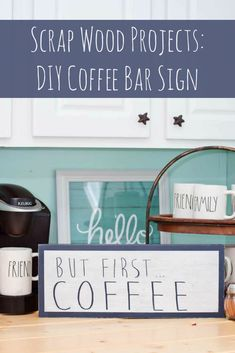 This DIY coffee bar