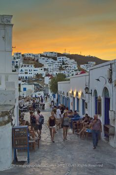Sunset in Hora, Astypalaia, Greece