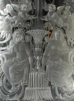 Detail Glass Claret Jug by Apsley Pellat and John Figg London Antique Glass, Rare Antique, Antique Silver, Glass Engraving, Crystal Glassware, Objet D'art, Art Pictures, Art Pics, Glass Etching