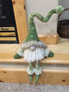 Handmade St. Patrick Green Felted Gnome by HeidisGnomes on Etsy