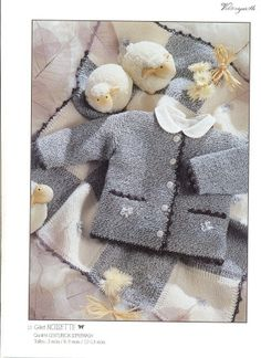 Cardigan for a baby Baby Knitting Patterns, Baby Cardigan Knitting Pattern, Knitting For Kids, Baby Patterns, Free Knitting, Knitting Magazine, Crochet Magazine, Crochet Baby Sweaters, Knit Crochet