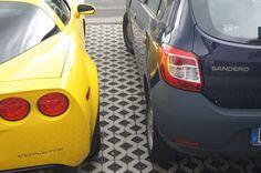 Wenn eine Corvette neben einen Dacia steht - http://www.scp-car.de/1819-2/