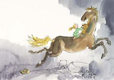 Quentin Blake, Picture Editor, Colorful Drawings, Moose Art, Horses, Gallery, Books, Animals, Character