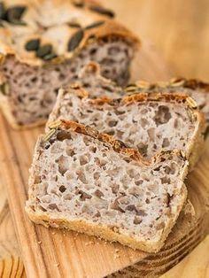 Chleb z mąki gryczanej Gluten Free Baking, Gluten Free Recipes, Vegetarian Recipes, Cooking Recipes, Healthy Recipes, Healthy Cooking, Healthy Eating, Breakfast Snacks, Bread Baking