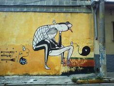 The amazing creations of the Brazilian street art artist Alex Senna, who brings beautiful love to the city with a dose of cute characters & love. Beautiful monochrome creations produced on the walls of the world, from Sao Paulo to London via New York, Berlin & Miami.