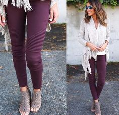 Purple Pants, Capri Pants, Closet, Fashion, Moda, Capri Trousers, Armoire, Fashion Styles, Closets