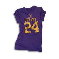 5th  amp  Ocean Los Angeles Lakers Kobe Bryant Womens Tri-blend T-Shirt 8c1dbcafd1