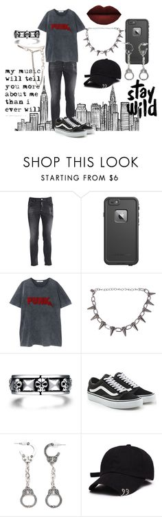 """Punk"" by curlgurl394 ❤ liked on Polyvore featuring Prada, Dsquared2, LifeProof, MANGO, Vans, Anastasia Beverly Hills, Fad Treasures and Christian Dior"