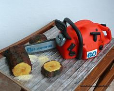 Chainsaw Birthday Cake - my husband will love this