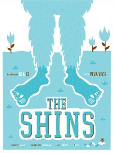 the shins with viva voce - gig poster