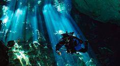 Diving Cenotes in Mexico (Tulum/Playa del Carmen): Choose the Best One in 5 Questions - My Favourite Escapes Cave Diving, Scuba Diving, Riviera Maya, Sri Lanka, Learn To Scuba Dive, Scuba Travel, Tulum Mexico, Cenote Mexico, Caribbean Sea