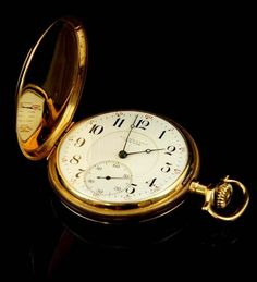 A 9ct gold full Hunter cased quarter repeating pocket watch, with indistinct marks, makers mark DS #watch