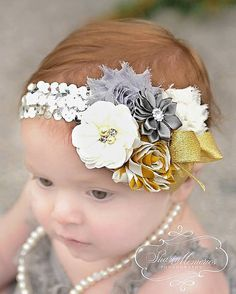 Hey, I found this really awesome Etsy listing at https://www.etsy.com/listing/215183668/silver-headbandtoddler-headbandgirl