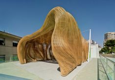 design - tomás amat estudio bases the cicada pavilion on insect morphology Parametric Architecture, Parametric Design, Pavilion Architecture, Organic Architecture, Architecture Design, Landscape Architecture, Residential Architecture, Contemporary Architecture, Wicker Headboard