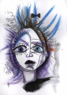 xx Pastels, Halloween Face Makeup, Fictional Characters, Art, Craft Art, Kunst, Fantasy Characters, Art Education, Sanat