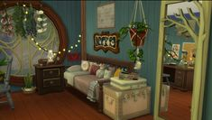 Sims 4 Bedroom, Sims 4 House Design, Sims House Plans, Sims Ideas, Sims 4 Build, Sims 4 Houses, Sims 4 Mods, Bedroom Ideas, Living Room