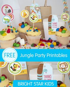 Free Jungle Party Invitation Printables. Download it for free today for your babies 1st birthday party!