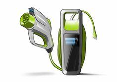 Plastic EV Charging Station Concept Electric Station, Electric Charging Stations, Gas Station, Ev Charger, Industrial Design Sketch, Cabinet Design, Car Wash, Design Inspiration, Concept