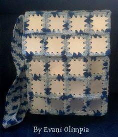 Bolsa em crochê, reciclando caixas de leite. Confira no blog!