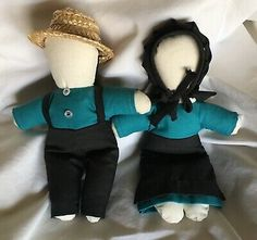 Amish Dolls No Faces Boy Girl Teal Blue Black Straw Hat Bonnet 7 In Handmade | eBay Amish Dolls, Teal Blue, My Ebay, Faces, Boys, Handmade, Black, Baby Boys, Hand Made