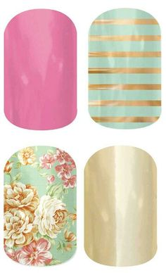 Spring colors #jamberry #nails #manicure visit http://kethan.jamberrynails.net/shop to place your buy 3 get 1 free order!