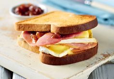 Toasted Ham, Brie and Caramelised Red Onion Relish on Gluten Free Bread Onion Relish, Summer Picnic, Brie, Ham, Caramel, Sandwiches, Toast, Gluten Free, Recipes