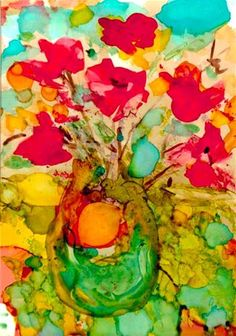 """Bright Bouquet"" - Original Fine Art for Sale - © Kelly Alge"