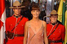Canada's Walk of Fame Inductee Linda Evangelista on the red carpet at the 2003 Canada's Walk of Fame Awards.