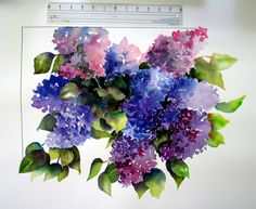 Less pink more purple. Maybe mix the blue hydrangea in the bouquet!