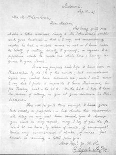 Poe's letter to Mrs. St. Leon Loud, possibly the last thing he ever wrote. (Photo: Edgar Allan Poe Museum)