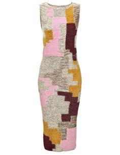Leutton Postle - Neapolitan Long Block Dress.