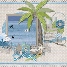 "I love this layout-especially the colors that were used.This would look cute using ""Life's a Beach"" Cartridge."