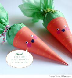 DIY - Easter Carrot Treat Cones