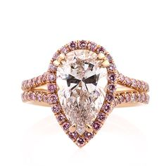 pear shaped engagement rings #