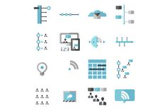 Check out Modern Social Media Timeline Icons by Stephanie Jagiello on Creative Market