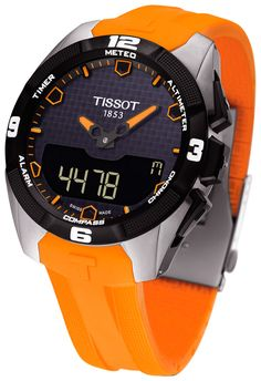 Reloj Tissot T-Touch Expert solar para hombre en titanio y correa de silicona naranja T091_420_47_051_01