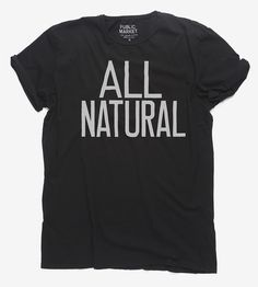 For the guy or gal that prefers things all-natural, this hand-lettered t-shirt is just the ticket. The original design is screenprinted with waterbased ink on your choice of tee color, and the capital letters are hand drawn, for an organic look to the typographic design.