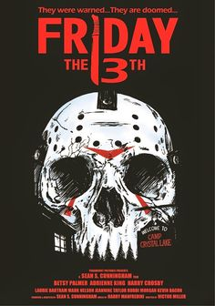 Friday The 13th Part Of Skull Inspired Horror Movie Poster Series | Friday The 13th: The Film Franchise