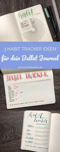Bullet Journal Ideen: 3 Varianten, wie du deinen Habit Tracker gestalten kannst! #bujo #bulletjournal #tracker