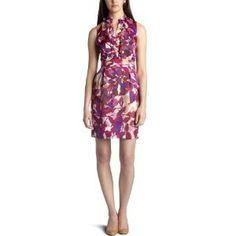 Ellen Tracy Dresses Women's Ruffle Front Dress (Apparel)