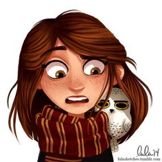 me as a gryffindor with my sassy owl