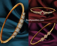 diamond bracelets that are amazing Gold Bangles Design, Gold Earrings Designs, Gold Jewellery Design, Bracelet Designs, Gold Jewelry, Jewelery, Diamond Jewellery, Designer Bangles, Gold Designs
