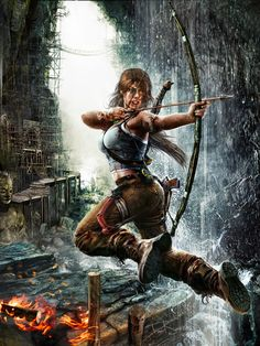 Lara Croft is a fictional character and the main protagonist of the video game series Tomb Raider by Japanese video game publisher Square Enix. Lara is Tomb Raider Video Game, Tomb Raider 3, Tomb Raider Lara Croft, Top Imagem, Japanese Video Games, Rise Of The Tomb, Raiders, Game Art, Lady