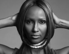 Iman by Brigitte Lacombe French Photographers, Female Photographers, Portrait Photographers, Brigitte Lacombe, Beautiful One, Beautiful People, My Hairstyle, Vintage Models, Black N White Images