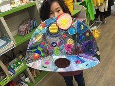 나만의 우주 만들기*.*, 청주미술학원 지난주 만들기 시간엔 아이들과 우주 만들기를 했어요:) 항상 도화지...